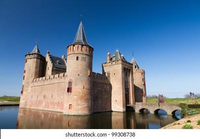 Castle with a castle-moat