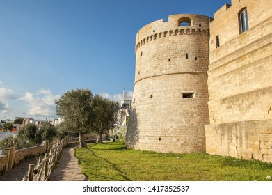 the castle of castro, salento, the eastern part of apulia, italy