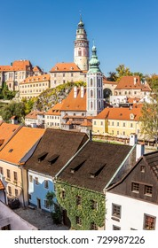 Castle of Cesky Krumlov and cityscape