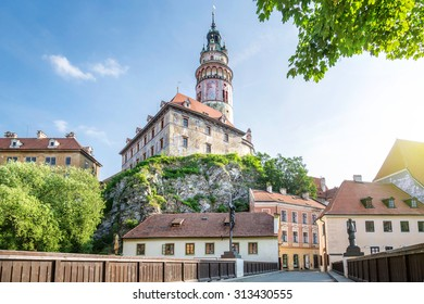 Castle of Cesky Krumlov in the morning, Bohemia, Czech Republic
