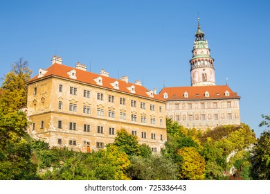 Castle of Cesky Krumlov in South Bohemia