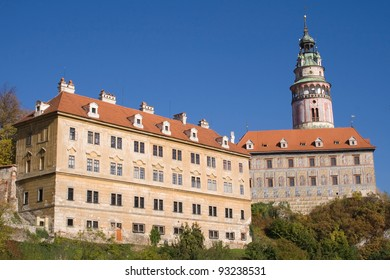Castle of Cesky Krumlov in South Bohemia, Czech Republic.