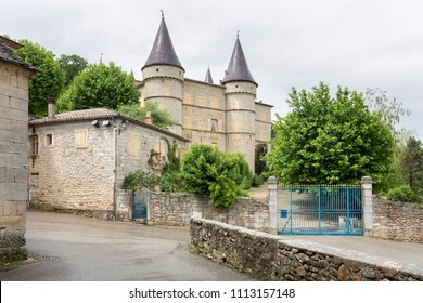 The castle of Chambonas in the Ardeche district, France