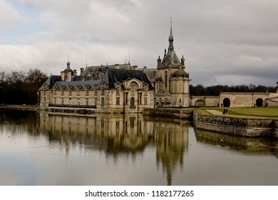 Castle of Chantilly, Oise/France - February 15, 2015