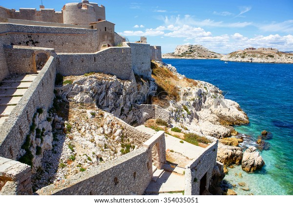 Castle Chateau d'If, near Marseille France. On sunny warm day in Provence.