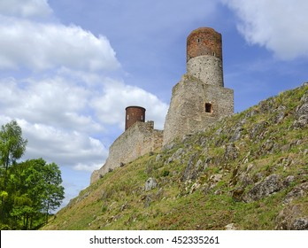 The castle in Checiny near Kielce was built at the turn of the 13th and 14th centuries. Poland