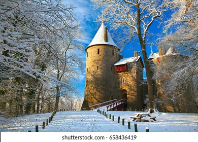 Castle Coch, Castell Coch, The Red Castle, Tongwynlais, Cardiff, Wales, UK