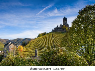 The castle in Cochem, Germany (Rhineland-Palatinate)