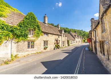 Castle Combe village in Cotswolds England UK
