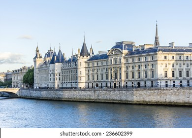 Castle Conciergerie - former royal palace and prison. Conciergerie located on the west of the Cite Island and today it is part of larger complex known as Palais de Justice. Paris, France