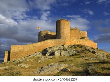 Castle at Consuegra, Toledo region, Castilla La Mancha, Spain. Route of Don Quixote