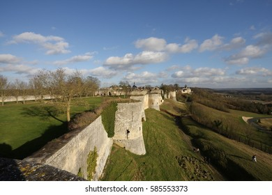 Castle of Coucy le Chateau in Aisne, Picardie in north of France