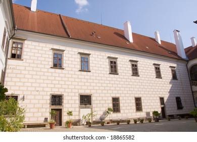castle of the czech historical city Trebon