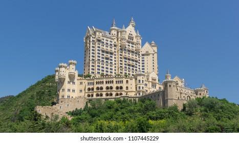 Castle in Dalian city, China