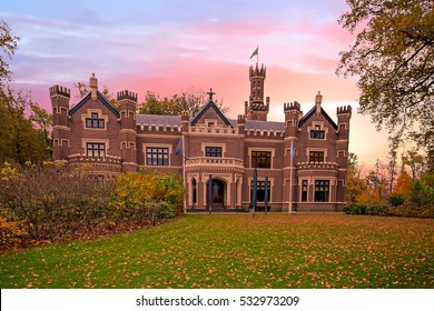 Castle ' De Schaffelaar' in Barneveld the Netherlands at sunset