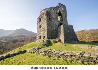 Castle Dolbadarn ruins, Llanberis, Snowdonia National Park in North Wales, United Kingdom