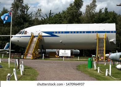 Castle Donington, East Midlands, UK 07/19/2019 Obsolete aircraft fuselage section