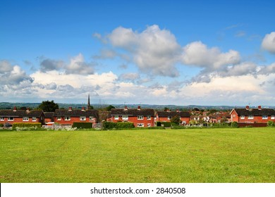 castle donington (midlands, UK) on a sunny spring day