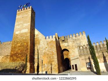 Castle of the door of Seville (Alcazar de la Puerta de Sevilla) in Carmona, province of Seville, Andalusia, Spain