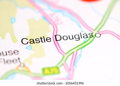 Castle Douglas. United Kingdom on a map