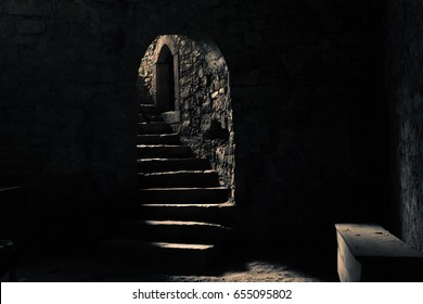 The castle dungeon with a beam of light