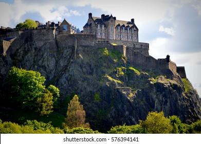 castle in Edinburgh in Scotland, UK