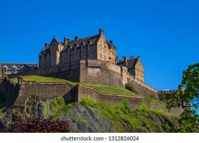 The castle of Edinburgh/Scotland