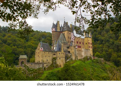 Castle Eltz - Gothic castle located on the hill in Moselle valley, Germany