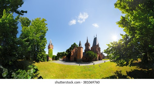 Castle in the forest at sunny day