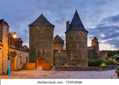 Castle of Fougeres in Brittany - France - travel and architecture background