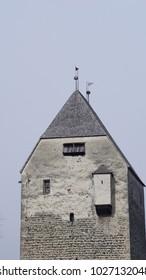 Castle Freundsberg with roman catholic chapel in Schwaz Tyrol Austria in winter