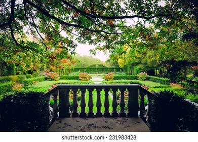 Castle garden in France