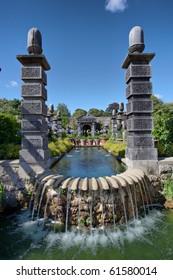 Castle Gardens in Arundel Castle, Sussex, England, UK