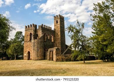 Castle in Gondar in Ethiopia