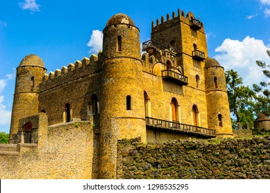 Castle of Gondar, Ethiopia, the old imperial capital and capital of the historic Begemder Province.