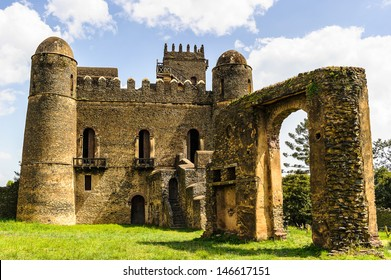 Castle of Gondar, Ethiopia. The origins of this castle can be found in the old tradition of the Ethiopian Emperors