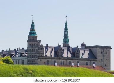 The castle of Hamlet, Kronborg castle in Elsinore Denmark, when spring has come to Scandinavia