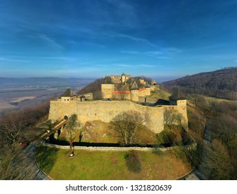 Castle of Helfstyn hovers above the valley of the Moravian Gate. The entire grounds consist of a number of utilitarian buildings and fortifications. Czech republic