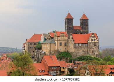 Castle hill and abbey of Quedlinburg (Stiftskirche St. Servatius) in Saxony-Anhalt, Germany