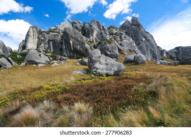 Castle Hill, Arthur's Pass National Park, New Zealand.