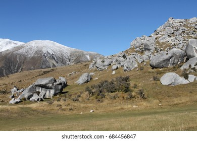 The castle hill, limestone rock formations, Arthur's pass, southern alps, south island, NZ, Conservation Area, Christchurch cathedral limestone, Battle scenes of the chronicles of Narnia