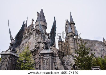 The castle of Hogwarts