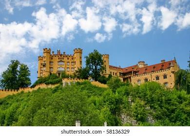 """Castle Hohenschwangau"" near town Fussen in Bavaria"