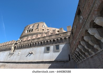 Castle of the Holy Angel and Mausoleum of Hadrian in Rome, Italy