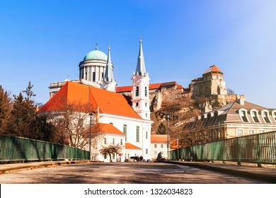 Castle in Hungary. Castle in Hungary. Westerly Cathedral. The biggest church in Hungary.View of an Esztergom Basilica, Hungary Westerly Cathedral.