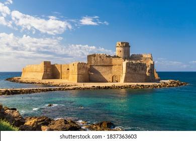 Castle in Isola di Capo Rizzuto, Province of Crotone, Calabria, Italy