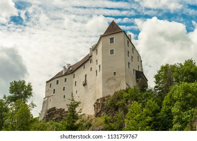 The castle of Karlstein on a steep rock in Lower Austria