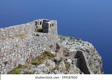 the castle Kastro on Leros island, Greece