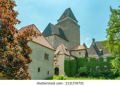 The castle keep and gate tower of medieval castle Heidenreichstein