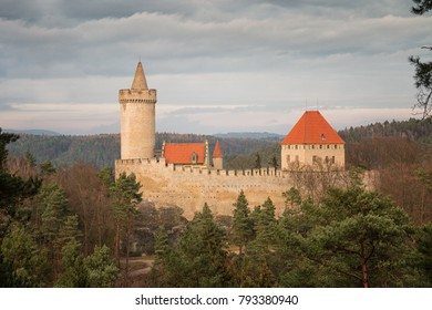 Castle Kokorin in beautiful landscape in Czech republic